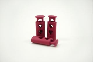 Фиксатор для шнурка пластик матовый ягодный 10072118