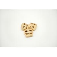 Фиксатор для шнурка металл желтое золото 10072120