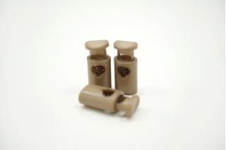 Фиксатор для шнурка пластик темно-бежевый 10072130