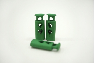 Фиксатор для шнурка пластик матовый зеленый 10072131