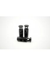 Фиксатор для шнурка металл черный никель 10072133