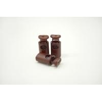 Фиксатор для шнурка пластик коричневый 10072137