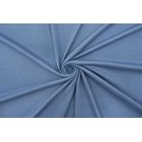 Трикотаж-рибана хлопковый тонкий Louis Vuitton приглушенно-голубой TRC-P50 12072106