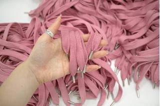 Шнурок пыльно-розовый 100 см 16072175