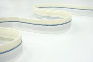 Корсажная лента для юбок и брюк бело-голубая 17072101
