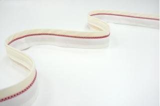 Корсажная лента для юбок и брюк бело-красная 17072102
