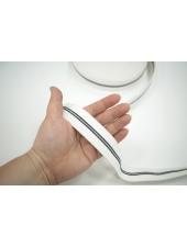 Тесьма-резинка 4 см черно-белая с серебром PRT 17072109