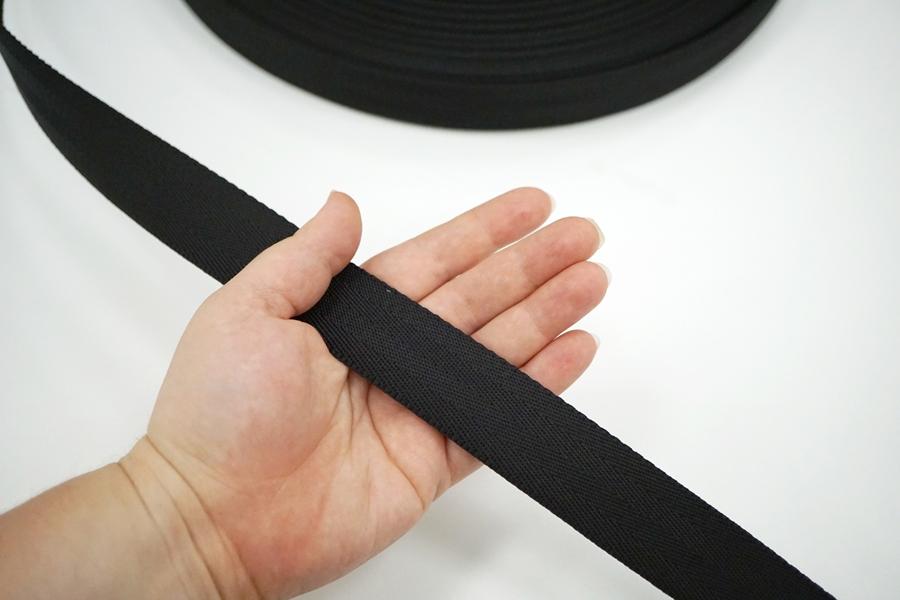 Ременная киперная лента 3 см черная 17072111