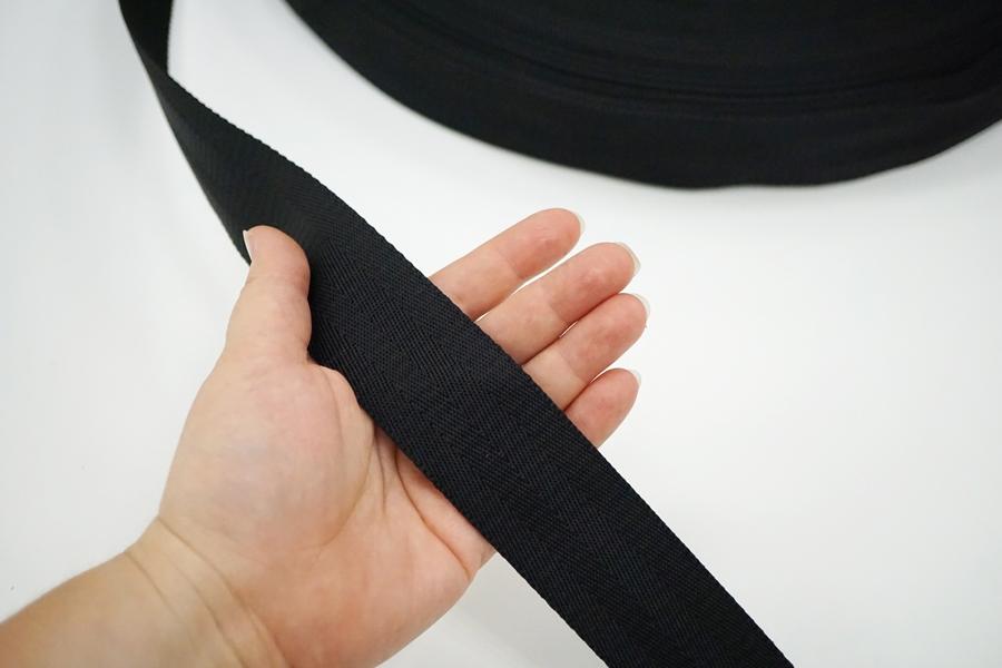 Ременная киперная лента 4 см черная 17072112