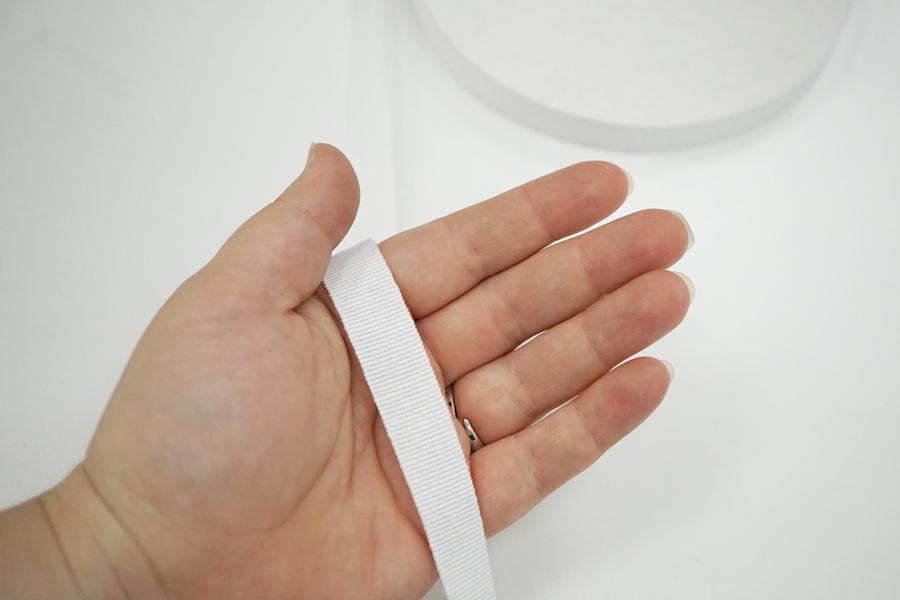 Лента репсовая белая 1,5 см 17072119 SH-B50