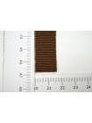 Лента репсовая коричневая 1,5 см 17072121