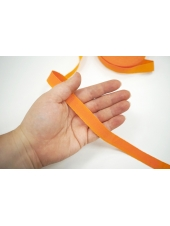 Лента репсовая оранжевая 1,5 см 17072123