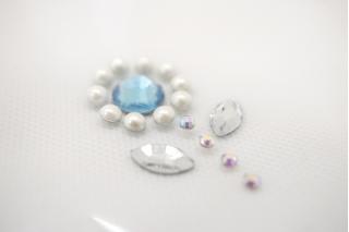 """Стразы """"Swarovski"""" голубые цветы 25062103"""