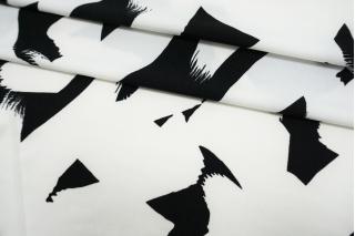 Трикотаж тонкий черно-белый TRC-Y20 30052106