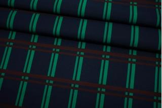 Репс курточный в полоску сине-зеленый TRC-F20 30052130