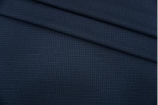Костюмно-плательная поливискоза в клетку синяя BT-G40 9116054