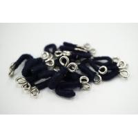 Крючки и петли одёжные металлические в шерстяной оплетке сине-серебристые 3 пары 02092101 N1
