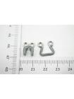 Крючки и петли одёжные металлические в текстильной оплетке серо-серебристые 3 пары 02092103 N1