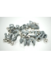 Крючки и петли одёжные металлические в текстильной оплетке серо-серебристые 3 пары 02092103