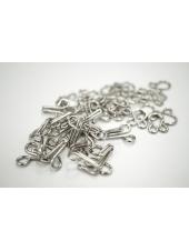 Крючки и петли одёжные металлические серебристые 10 пар 02092105