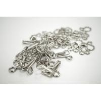 Крючки и петли одёжные металлические серебристые 10 пар 02092105 N1