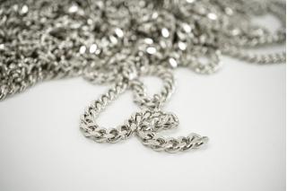 Декоративная цепочка серебристая 0,6 см NN01 02092114