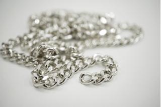 Декоративная цепочка серебристая 0,7 см NN01 02092116