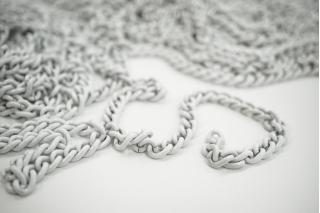 Декоративная цепочка белая 0,8 см NN01 02092117