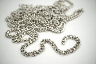 Декоративная цепочка серебристая 0,7 см NN01 02092118
