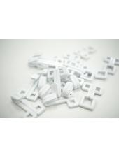 Крючки и петли одёжные металлические белая эмаль геометрия 3 пары 02092120 N1