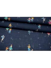 Батист танцы на синем фоне MII-A30 03082138