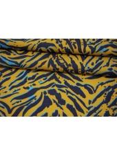 Батист тигровые полосы на горчичном фоне MII-A30 03082145