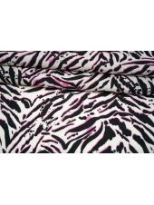 Батист тигровые полосы на белом фоне MII-A30 03082146