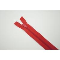 Молния спиральная неразъёмная однозамковая красная 49 см G18 05052111