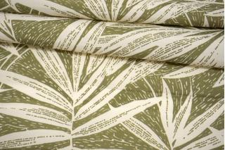 Креповая вискоза крупные листья на зеленом фоне MII-H30 05082114