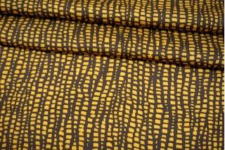 Сатин плательно-блузочный коричнево-желтый MII-H50 05082122