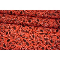 Штапель тонкий абстракция на красном фоне MII-I60 05082125