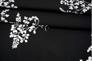 Штапель черно-белые цветы MII-J60 05082126