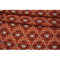 Штапель растительный орнамент на терракотовом фоне MII-I60 05082127