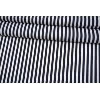 Поплин рубашечный в полоску бело-синюю MII-A60 06082102