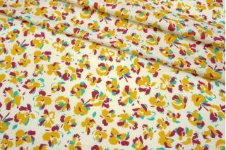 Сатин плательно-рубашечный цветы на молочном фоне MII-A50 06082128