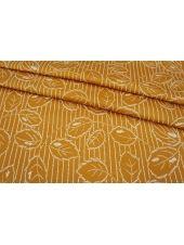 Сатин-стрейч костюмно-плательный абстрактный золотистый MII-C40 07082105