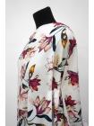 Хлопок-стрейч плательный цветы на белом фоне MII-C30 07082115