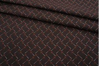 Джинса-стрейч геометрия черно-коричневая MII-D60 08082103
