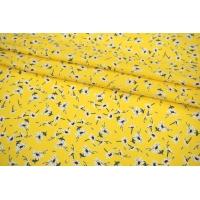 Поплин мерсеризованный цветы на желтом фоне MII-A60 08082107