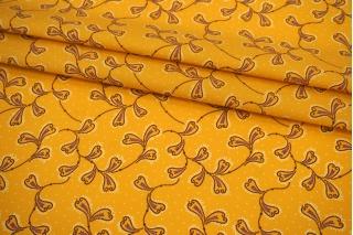 Поплин мерсеризованный абстракция на желто-оранжевом фоне MII-A60 08082110