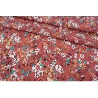 Поплин мерсеризованный цветы на ягодно-розовом фоне MII-A60 08082113