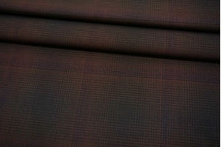 Костюмная шерсть в клетку темно-коричневая Max Mara SVM.H-EE30 18082112