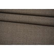 Костюмно-плательная шерсть пепита серо-черно-коричневая Max Mara SVM.H-EE40 18082117