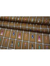 Твил шелковый девушки на золотисто-бежевом фоне Max Mara SVM-M50 18082121